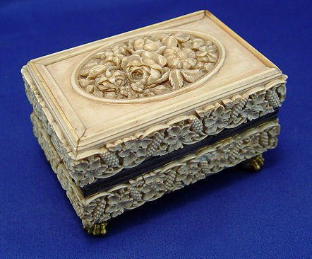 71: CARVED IVORY MUSIC BOX