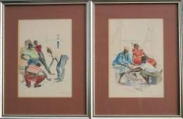 290: PR OF BAHAMIAN SIGNED WATERCOLOR PAINTINGS