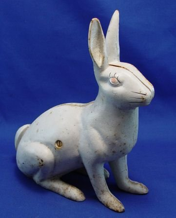 477: HUBLEY WHITE RABBIT GARDEN ORNAMENT DOOR STOP