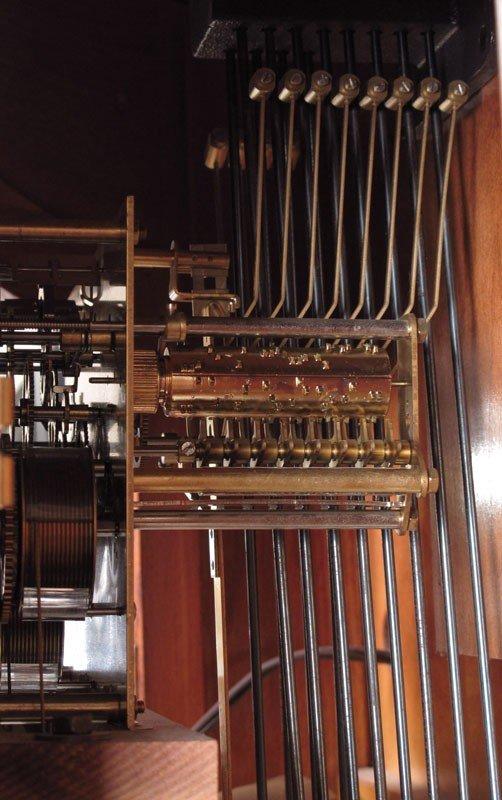 150: HOWARD MILLER MAJESTIC CURIO GRANDFATHER CLOCK - 5