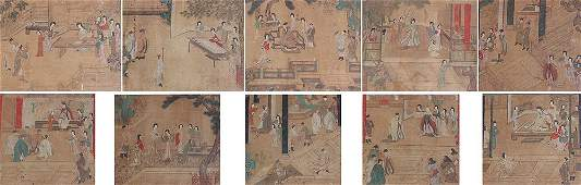 38: 10 EARLY JAPANESE PAINTINGS