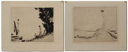 2 PC NAT LONG NUDE ETCHING LOT