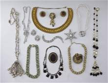 435: VINTAGE COSTUME JEWELRY HASKELL TRIFARI, WEISS