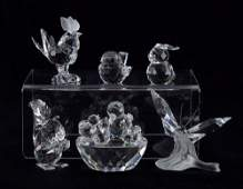 506 SWAROVSKI CRYSTAL FIGURES 6 pc land and air
