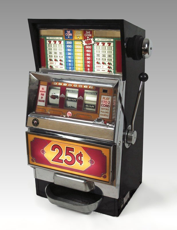 343: BALLY MODEL 1088 25 CENT SLOT MACHINE