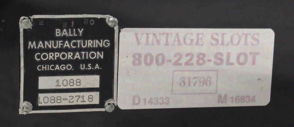 343: BALLY MODEL 1088 25 CENT SLOT MACHINE - 4