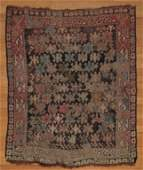 "SEMI-ANTIQUE CAUCASIAN PRAYER RUG 4'1"" x 3'5"