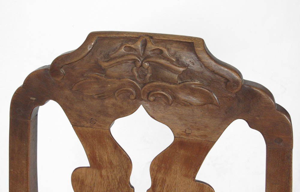 23: SET OF 4 EARLY CARVED SIDE CHAIRS - 3