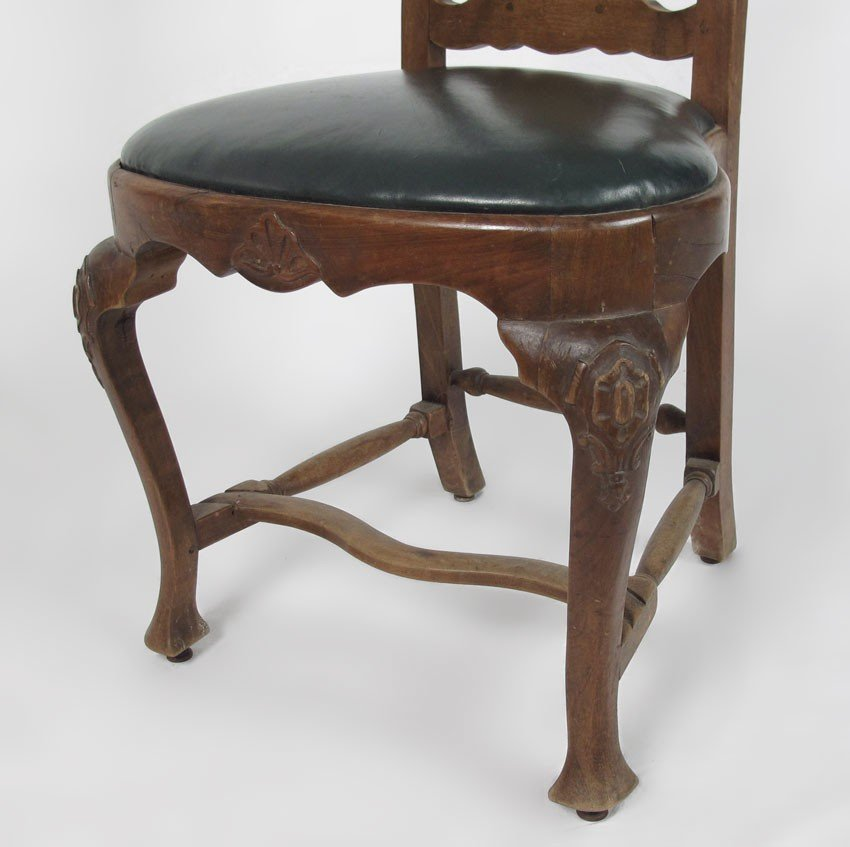 23: SET OF 4 EARLY CARVED SIDE CHAIRS - 4