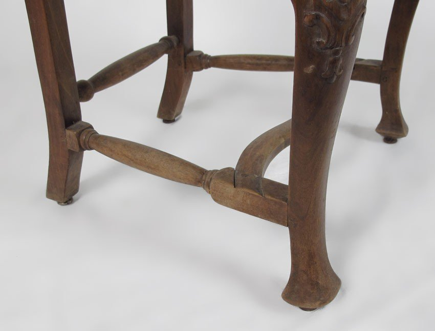 23: SET OF 4 EARLY CARVED SIDE CHAIRS - 5