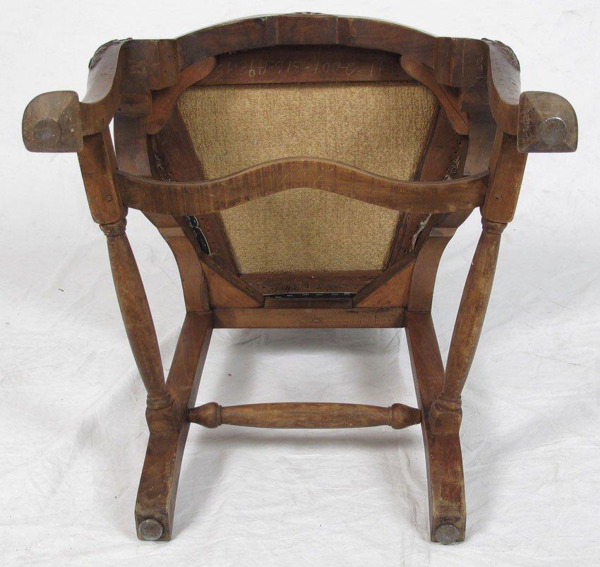 23: SET OF 4 EARLY CARVED SIDE CHAIRS - 6