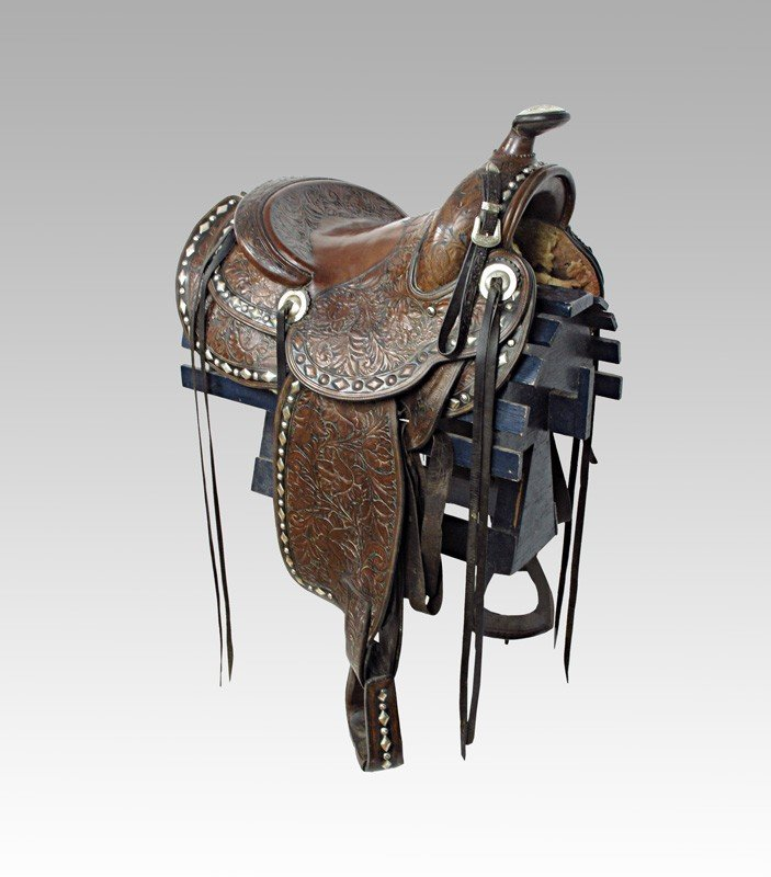 81: EDWARD BOHLIN STERLING  ROPER SADDLE
