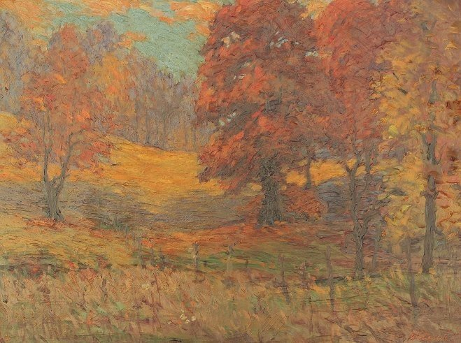 88: WALASEK AUTUMNAL FOREST CLEARING, OIL/MASONITE
