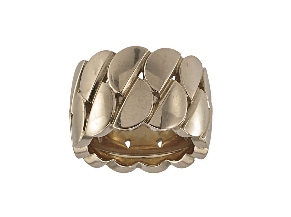 121: 18K GOLD CARTIER LA DONA WIDE GOLD RING