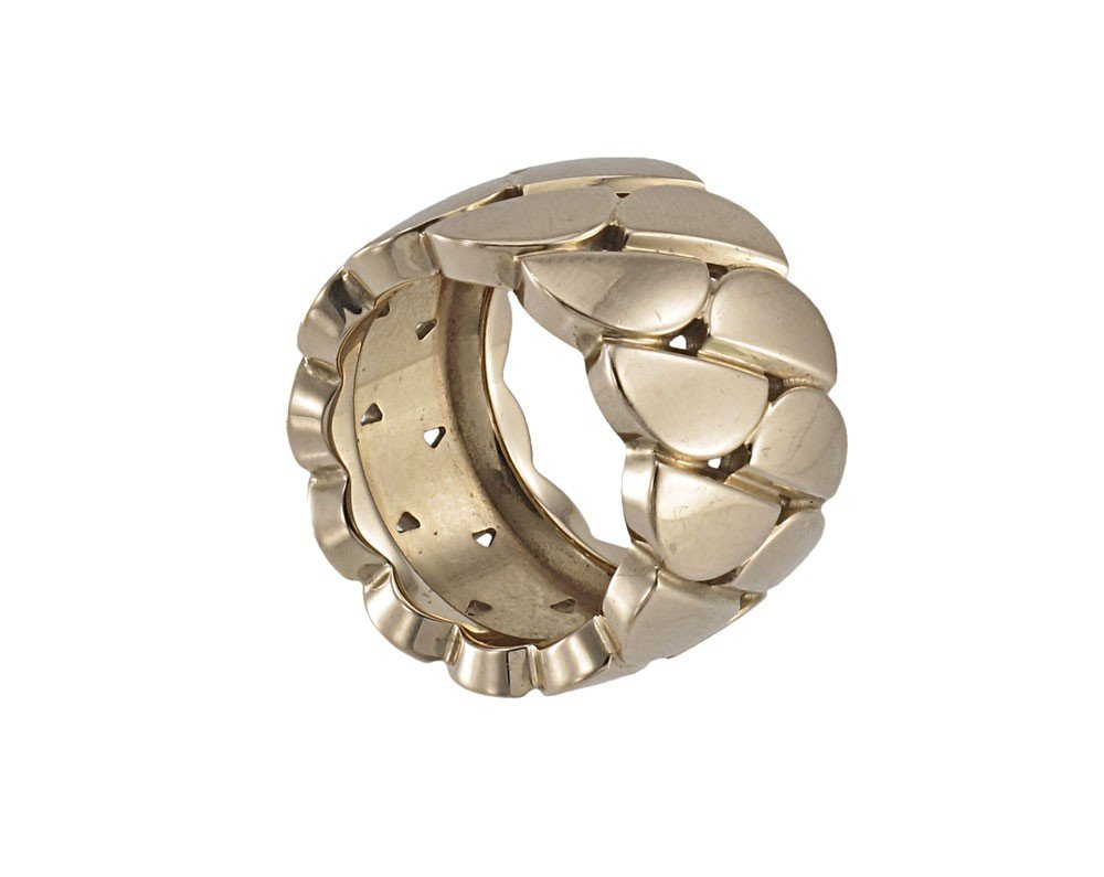 121: 18K GOLD CARTIER LA DONA WIDE GOLD RING - 2