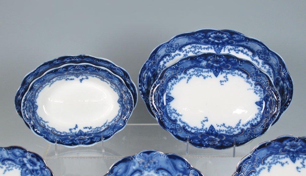184: 34 pc JOHNSON BROS FLOW BLUE ARGYLE CHINA - 2