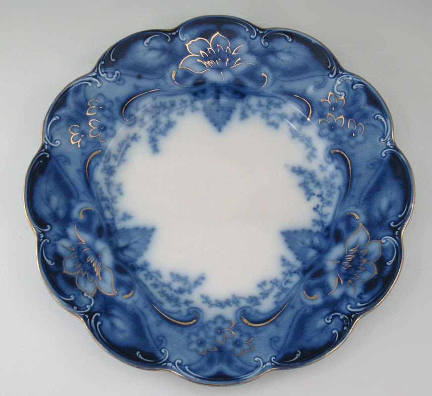184: 34 pc JOHNSON BROS FLOW BLUE ARGYLE CHINA - 5