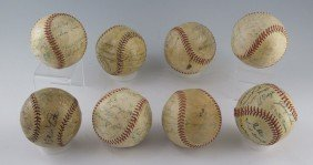 411: COLLECTION 7 1940's-1950's YANKEES SIGNED BASEBALL
