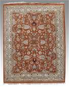 308: INDO PERSIAN HAND KNOTTED WOOL RUG 8 X 10