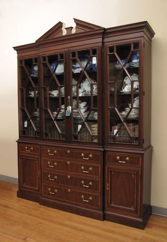 12: MAHOGANY CHINA CABINET BY WHITE FURNITURE 2PC