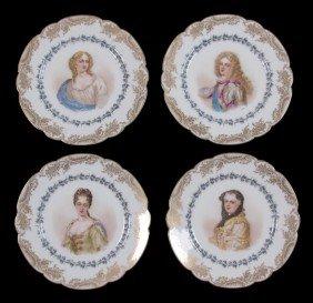 7: SET OF 4 SEVRES CHATEAU ST. CLOUD PORTRAIT PLATES