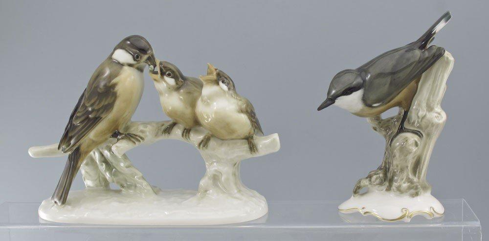 491: 5 PORCELAIN BIRD FIGURINES HUTSCHENREUTHER & MORE - 2