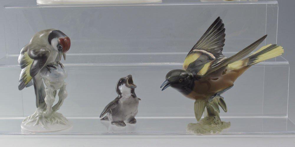 491: 5 PORCELAIN BIRD FIGURINES HUTSCHENREUTHER & MORE - 3
