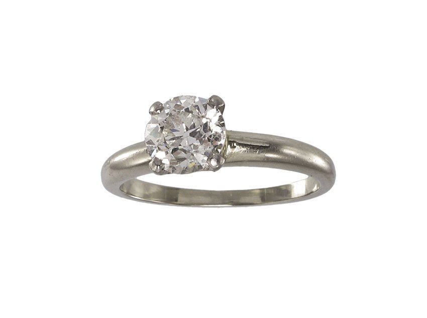 65: 1.03 CT DIAMOND SOLITAIRE ENGAGEMENT RING 14K GOLD
