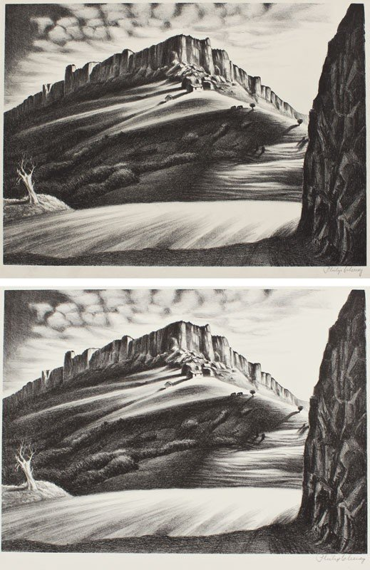 8: PHILIP CHENEY STEAMBOAT ROCK, 2 LITHOGRAPHS