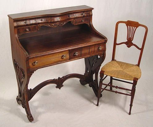 1008: VICTORIAN  LADIES DESK AND CHAIR