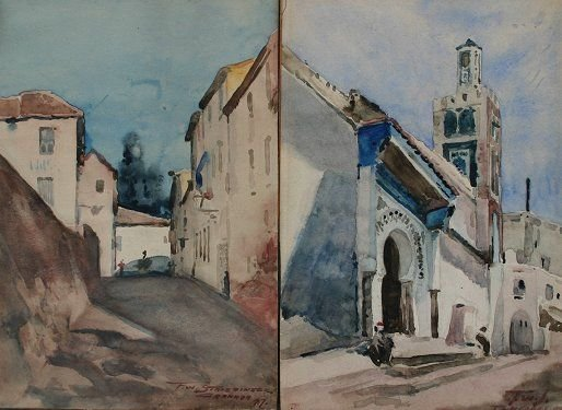 1086: TANGIERS & GRANADA PAINTINGS SIGNED STRIEBINZER