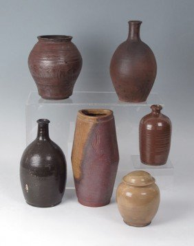 6 PC CONTEMPORARY JAPANESE POTTERY