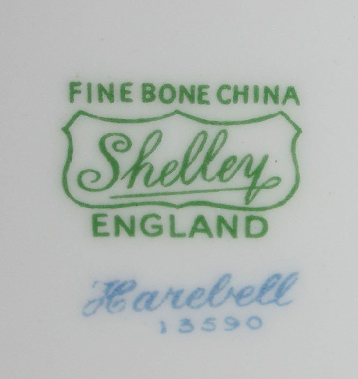 261: 89 pc SHELLEY BONE CHINA HAREBELL FOR 12 - 3