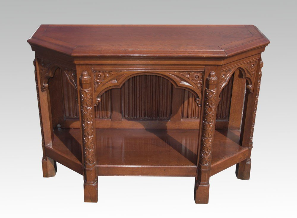11: BELGIAN CARVED CONSOLE TABLE