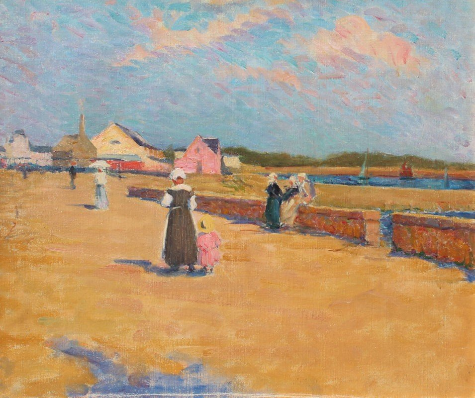 22: BRITTANY PAINTING ATTRIBUTED TO J.M. KITE