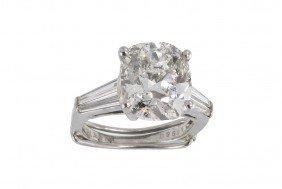 5.06 CT DIAMOND SOLITAIRE RING EGL-USA PLATINUM RI