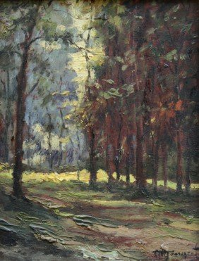 ALESSANDRO MONSAGRATI FOREST PAINTING