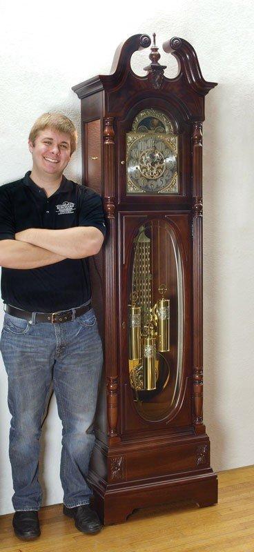 48: HOWARD MILLER STEWART MODEL GRANDFATHER CLOCK