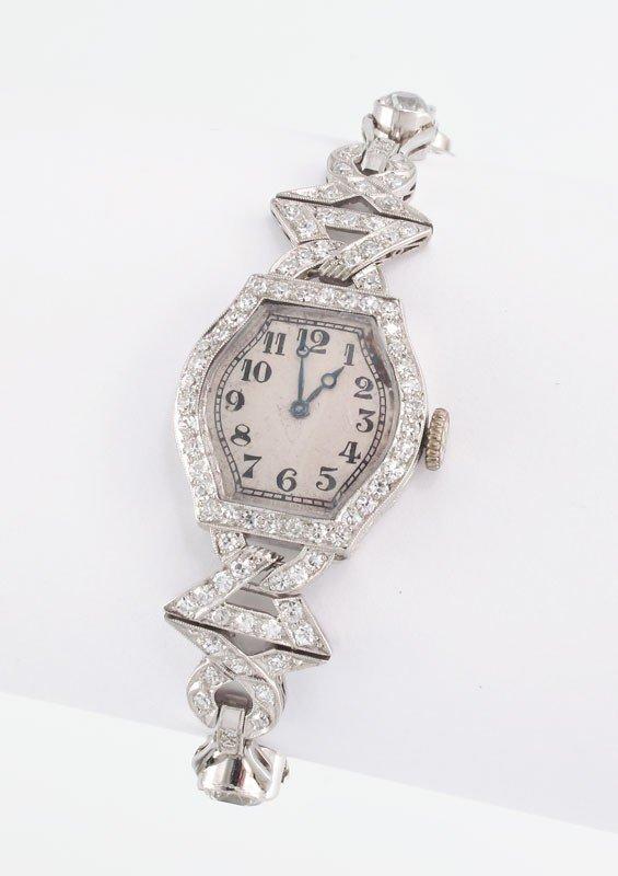 57: 7.16CT DIAMOND AMERICAN WATCH CO LADIES DRESS WATC
