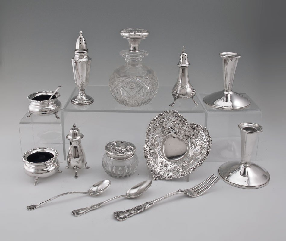 59: ESTATE COLLECTION OF STERLING SILVER ITEMS