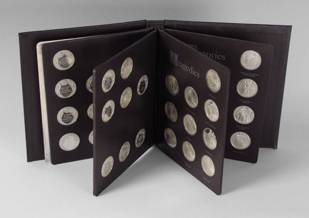 60: STERLING SILVER ROYAL SHAKESPEARE MEDALS