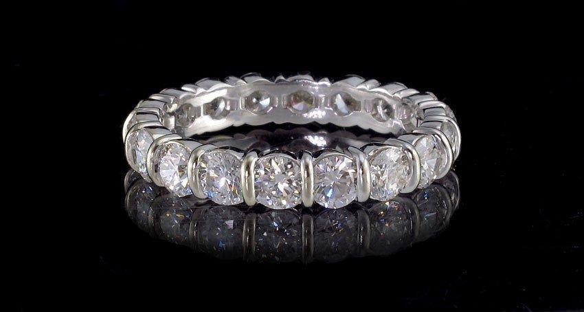 54: ULTIMATE 3.6 CT DIAMOND ETERNITY BAND RING 18k GOL