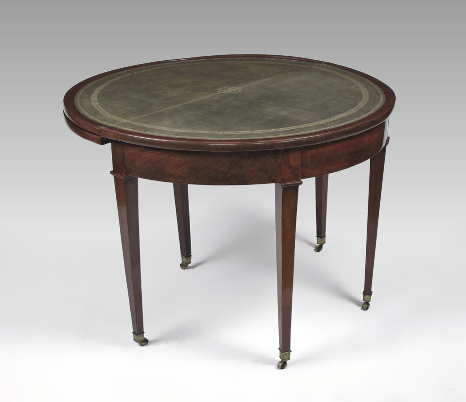 5: DOUBLE TOP MAHOGANY GAME TABLE