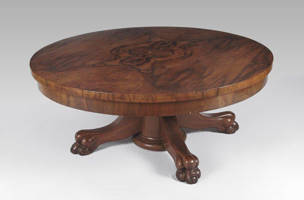 Walnut claw foot 34 round coffee table 266 walnut claw foot 34 round coffee table geotapseo Choice Image