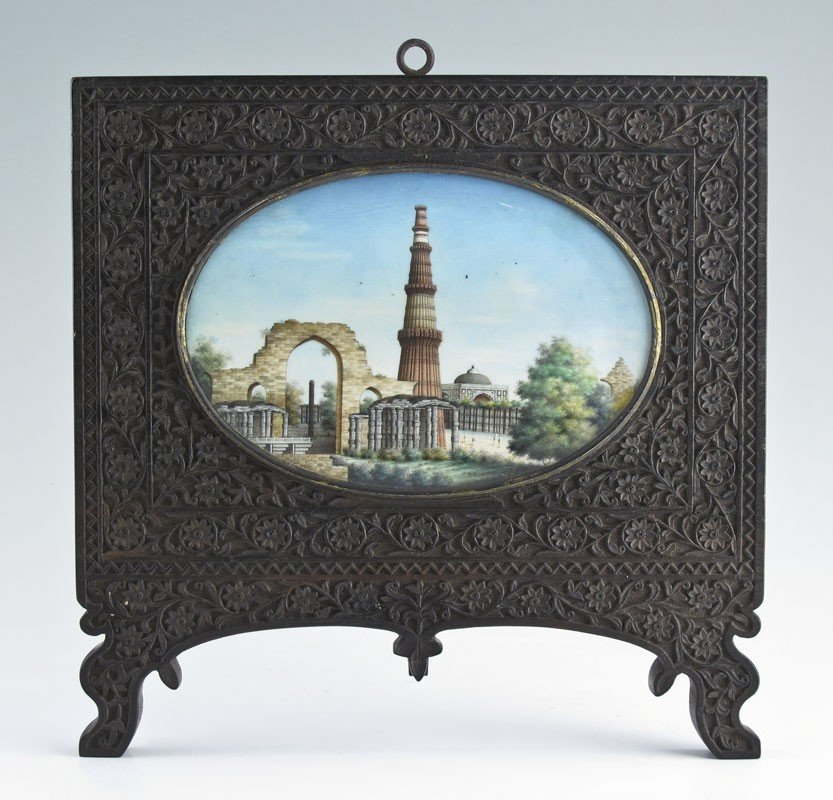 8: MINIATURE PAINTING ON IVORY INDIAN MOSQUE