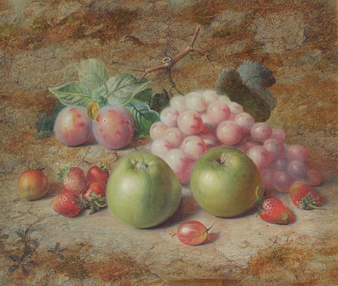 21: CHARLES ARCHER STILL LIFE PAINTING OF FRUIT