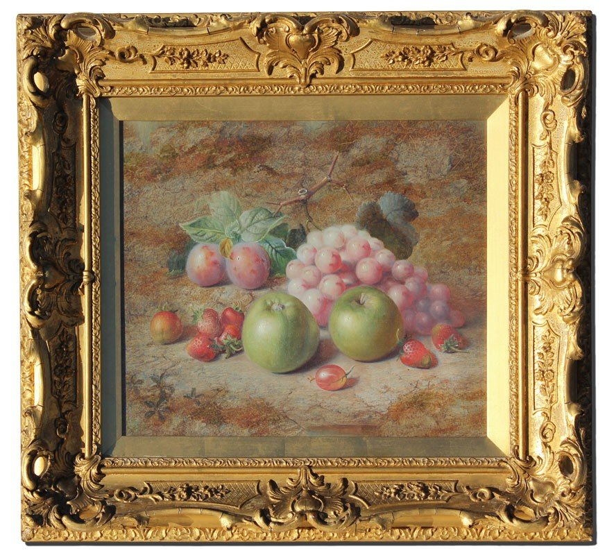 21: CHARLES ARCHER STILL LIFE PAINTING OF FRUIT - 2