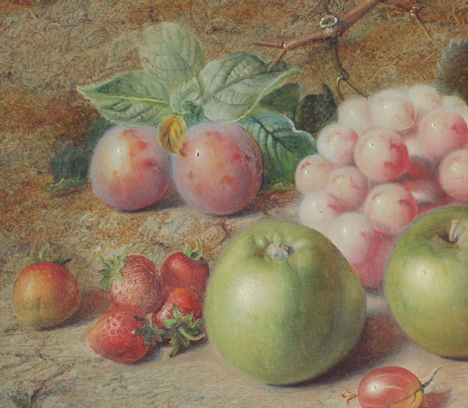 21: CHARLES ARCHER STILL LIFE PAINTING OF FRUIT - 3