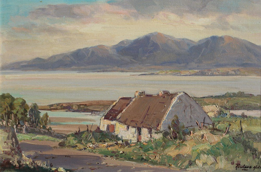 34: ROWLAND HILL IRISH LANDSCAPE PAINTING
