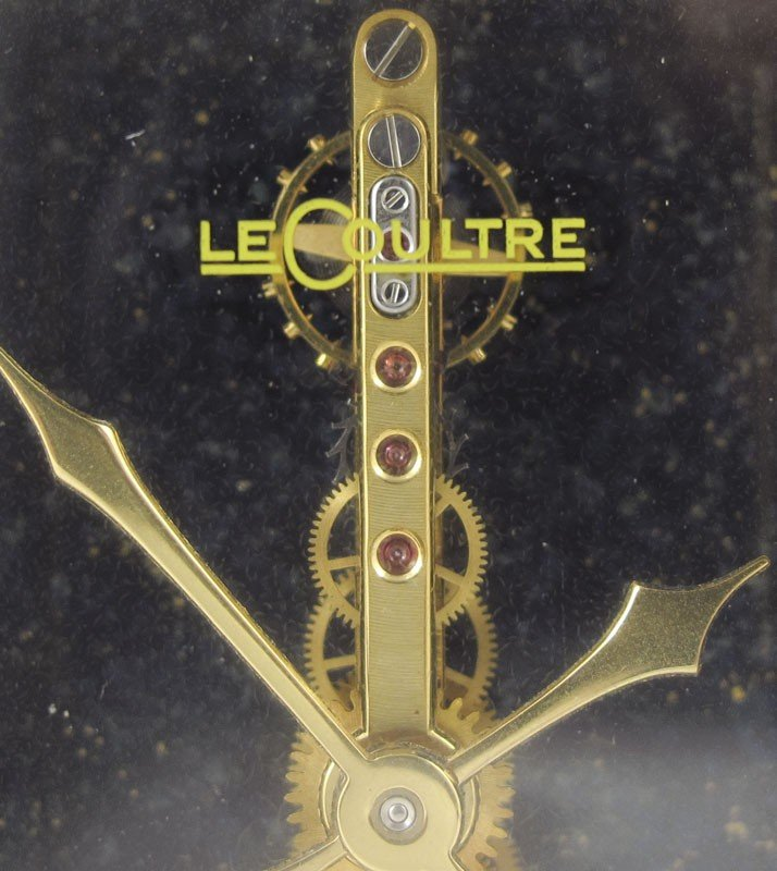240A: LE COULTRE LAPIS LAZULI DESK CLOCK - 2